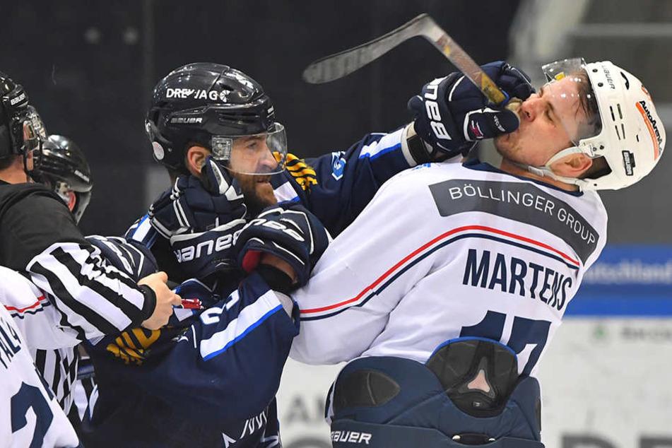Matt Siddal (li.) ist heiß, den Heilbronnern um Henry Martens heute eine Abreibung zu verpassen und mit einem Sieg heimzukehren.