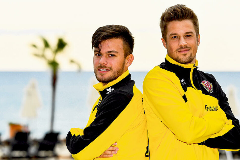 Patrick Möschl (r.) und Sascha Horvath, die beiden sympathischen Österreicher fühlen sich bei Dynamo sehr wohl, auch wenn sportlich noch nicht alle Hoffnungen in Erfüllung gegangen sind.