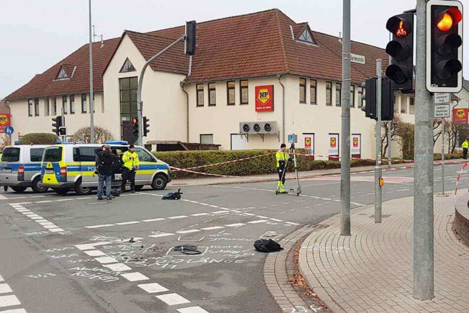 An dieser Kreuzung ereignete sich der tödliche Unfall.