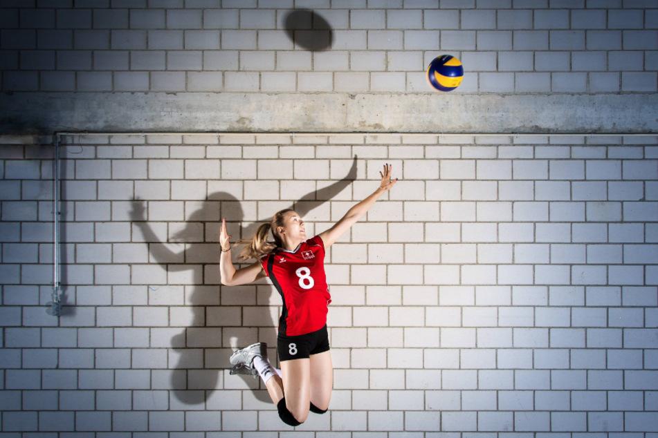 Die 21-jährige Maja Storck im Trikot der Schweizer Nationalmannschaft.