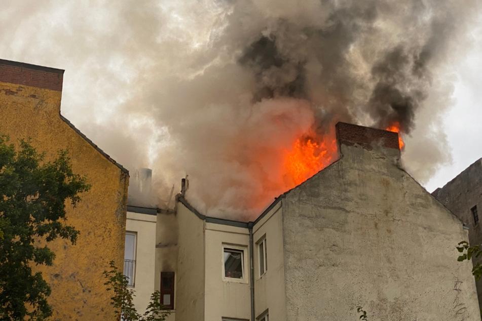 Hamburg: Dunkler Rauch über Hamburg: Haus im Karoviertel brennt