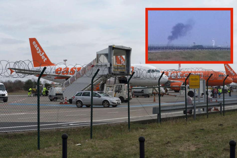 Flugzeug in Flammen? Helle Aufregung wegen Rauchsäule über Airport