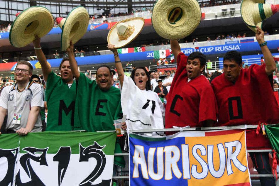Nicht alle Fans von Mexiko konnten das Spiel ohne unnötige Rufe genießen.