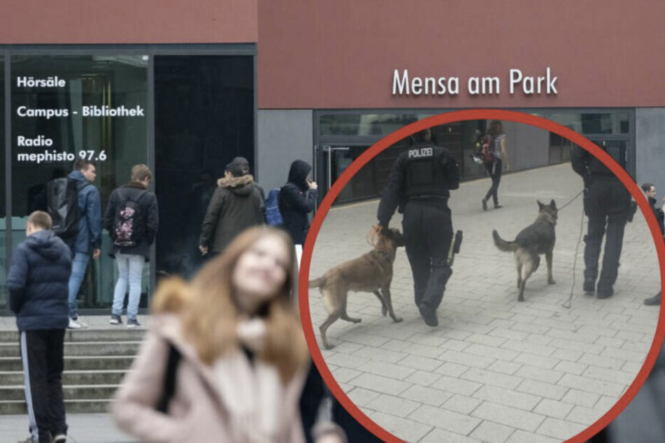 Die Kontrollen auf dem Leipziger Campus hatten für Unverständnis bei den Studenten geführt.