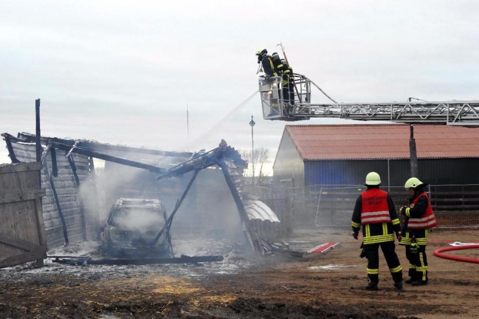 Zwar konnten die Kameraden der Feuerwehren Wurzen und Nemt ein Übergreifen der Flammen auf Nachbargebäude vermeiden, das Auto war aber nicht mehr zu retten.
