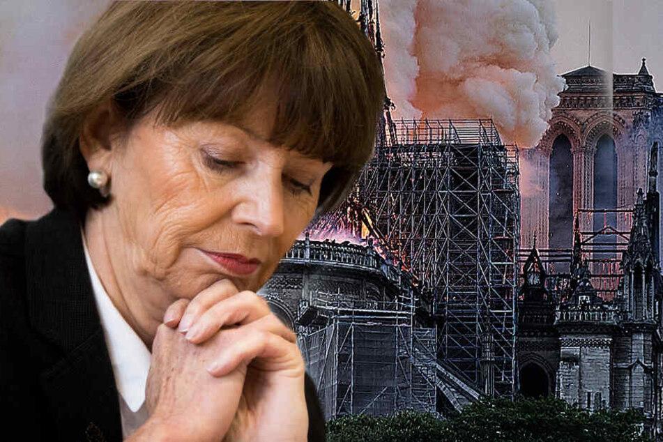 Der Brand der Kathedrale sorgt für Bestürzung bei Henriette Reker.