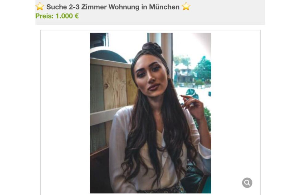 Mit dieser Anzeige sucht Samira Yasmin Leila nach einer neuen Wohnung in München.