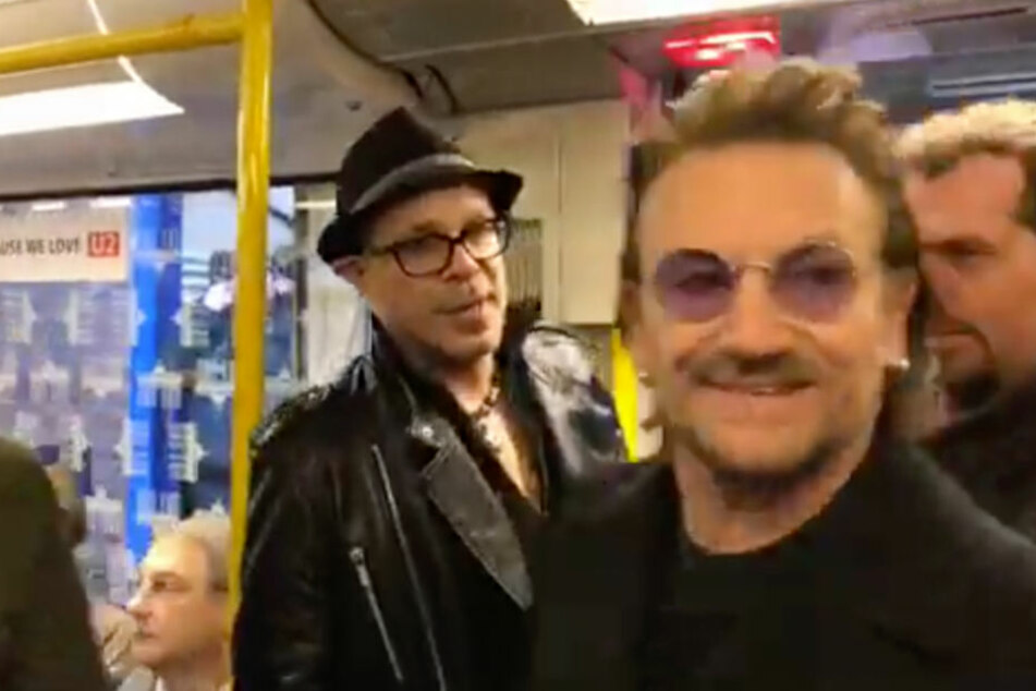 Was machen denn Bono und Edge hier in der U2?