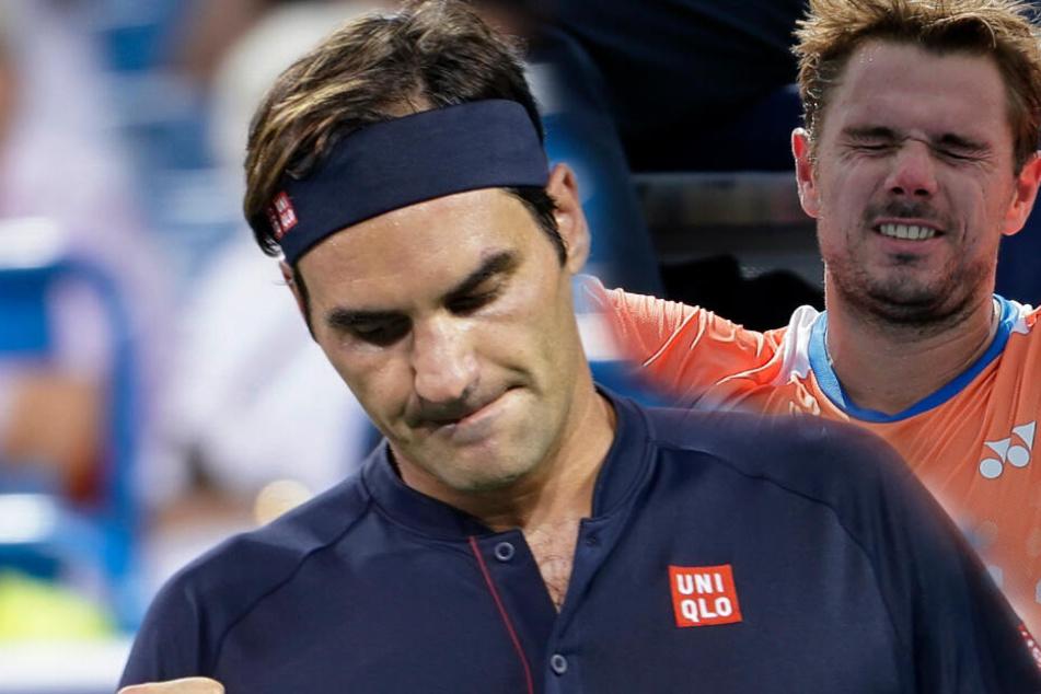 Vorjahressieger Roger Federer (l.) und Stan Wawrinka (r.). (Fotomontage)