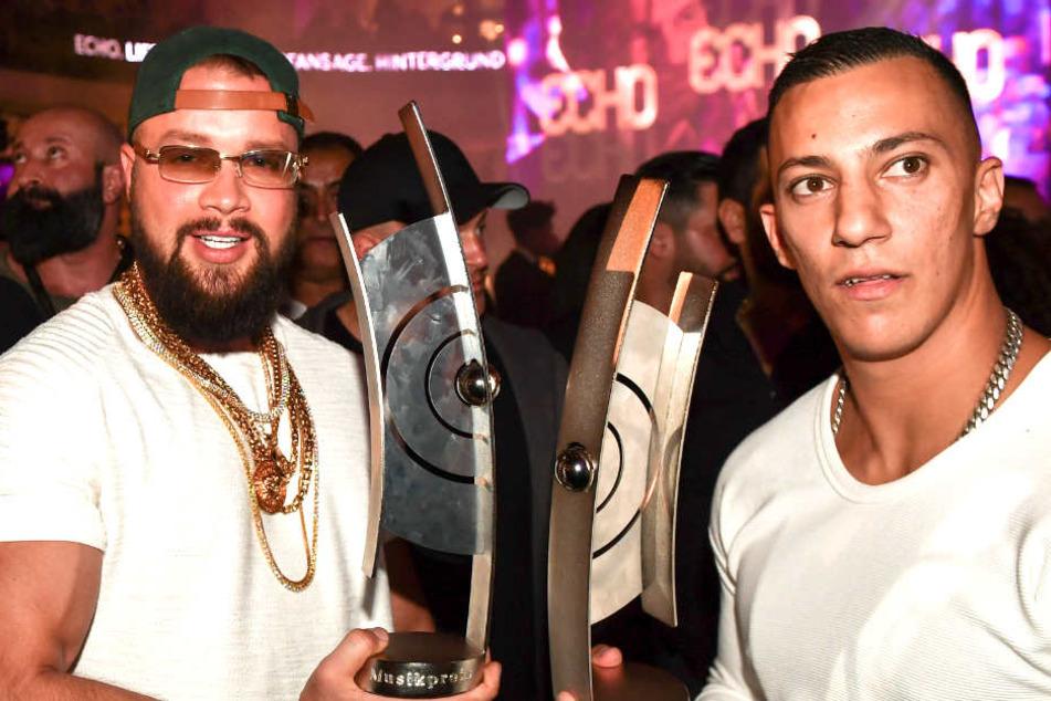 Die beiden Rapper Kollegah und Farid Bang gewannen einen Echo bei der 27. Verleihung.