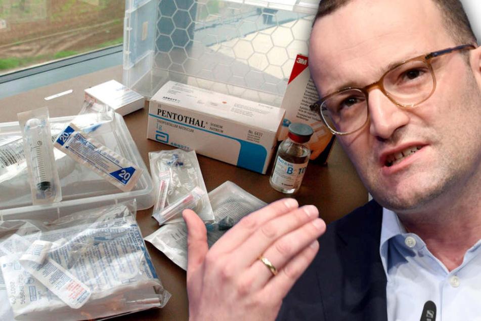 Sterbehilfe in Belgien durch entsprechende Präparate ist seit Jahren erlaubt, zieht Spahn da nach? (Bildmontage)