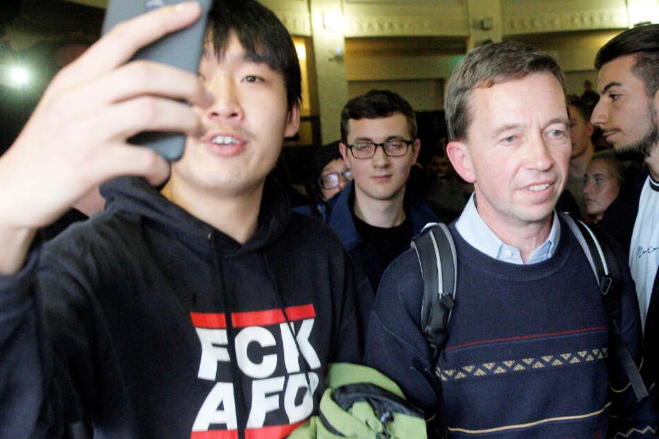 AfD-Gründer Lucke: Trifft er nach der Eskalation wieder auf Studenten?