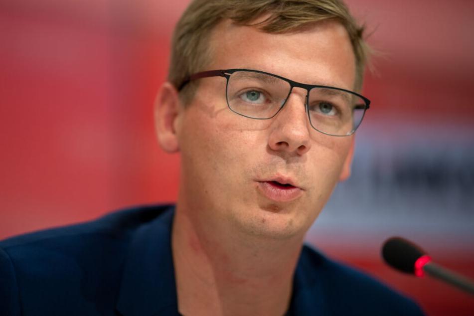 Linke-Fraktionschef Sebastian Walter kündigt konstruktive Opposition an. (Archivbild)