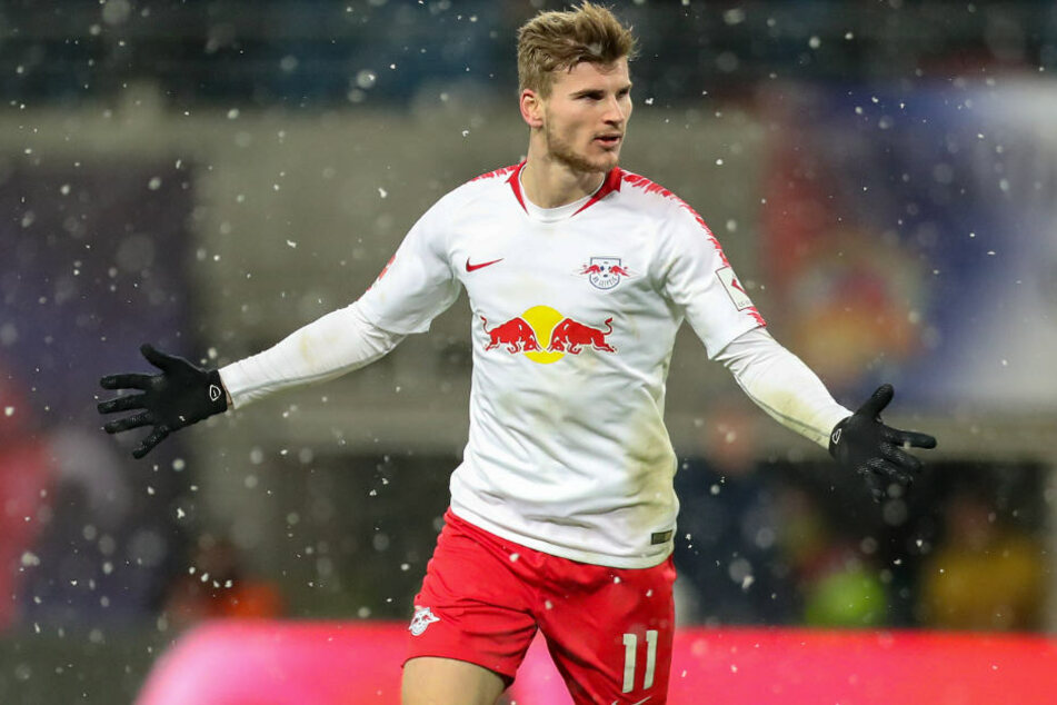 Timo Werner und RB Leipzig könnten den Bayern-Aufschwung stoppen. (Archivbild)