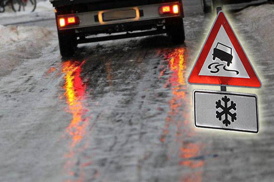 In ganz Thüringen gab es Unfälle aufgrund von Glatteis.
