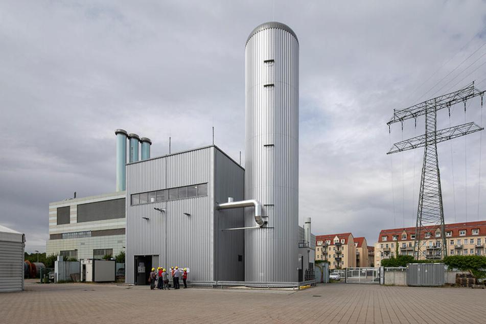 Die Anlage am Heizkraftwerk Nossener Brücke geht in Kürze in den Dauerbetrieb.