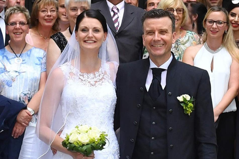Im Sommer 2017 läuteten bei Alexander Waibl und Ex-DSC-Spielerin Stefanie Waibl (geb. Karg) nochmal die Hochzeitsglocken.