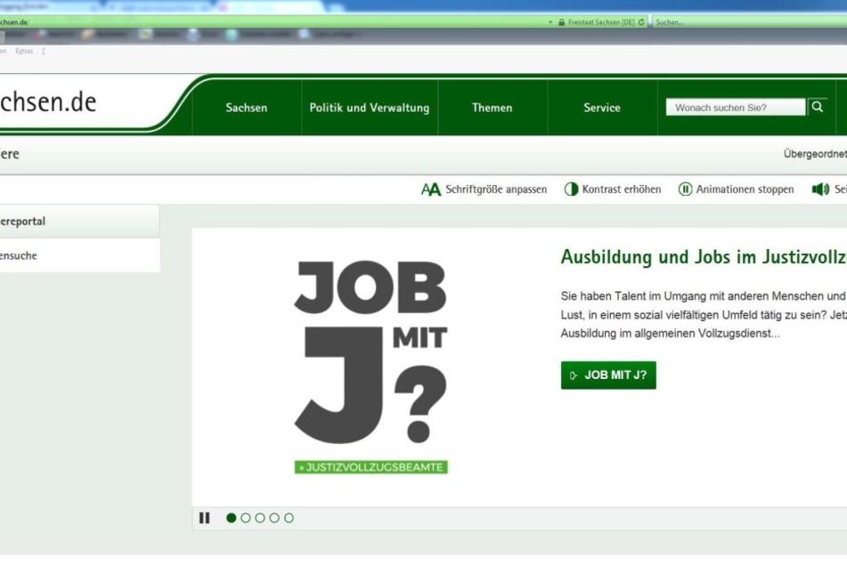 Runderneuert: Die Karriere-Seite des Freistaates im Internet.