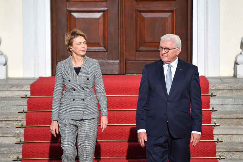 Bundespräsident Frank-Walter Steinmeier kommt mit seiner Frau Elke Büdenbender nach Sachsen.