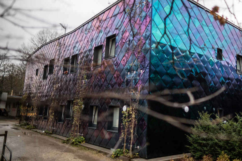 Das Foto zeigt die Obdachlosenunterkunft im Ostpark.