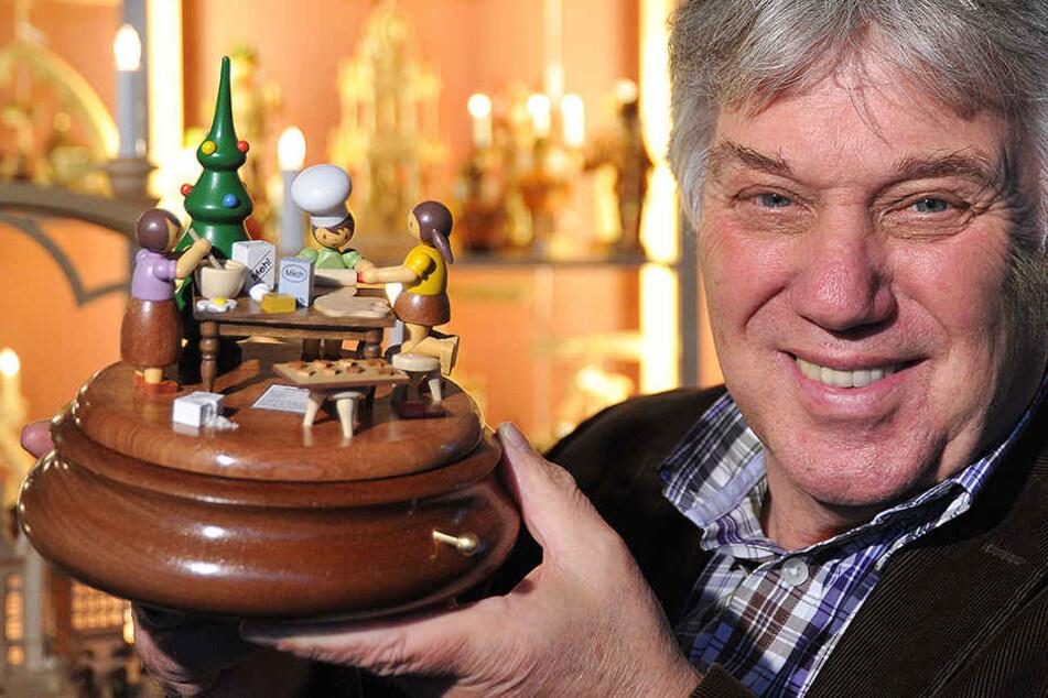 Die Spieluhr spielt Lieder von Rolf Zuckowski.