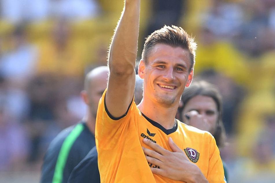 Top-Torschütze Stefan Kutschke verlässt Dynamo Dresden, nachdem er 16 Zweitliga-Treffer für die Schwarz-Gelben erzielte.
