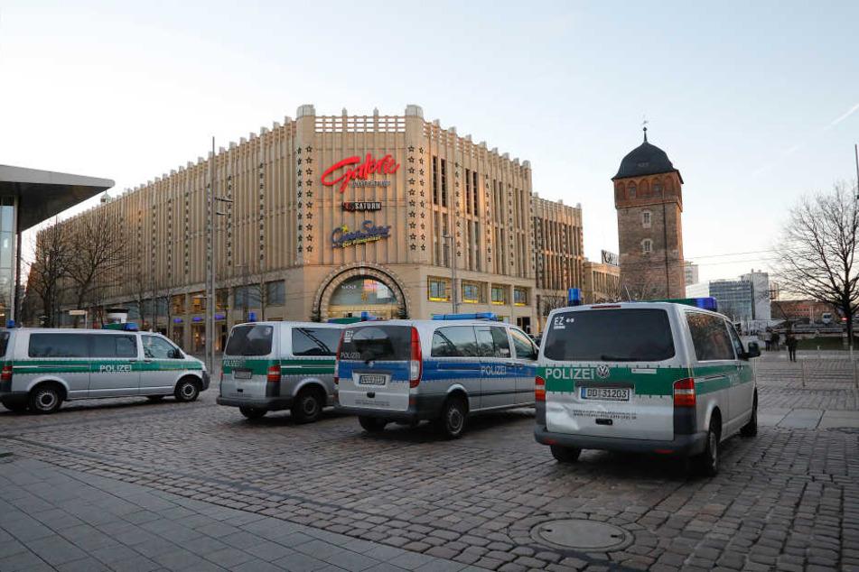 Auch gegen die Galerie Roter Turm lag im Dezember 2016 eine Bombendrohung vor.
