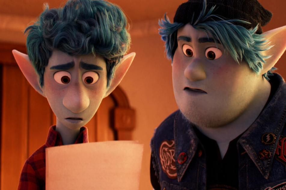"""Ian Lightfoot (l.) und sein Bruder Barley spielen in """"Onward"""" die Hauptrollen."""