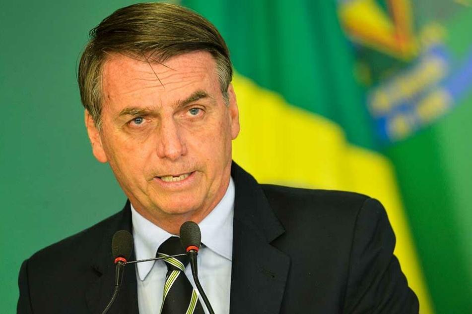 Brasiliens Präsident Jair M. Bolsonaro (63).