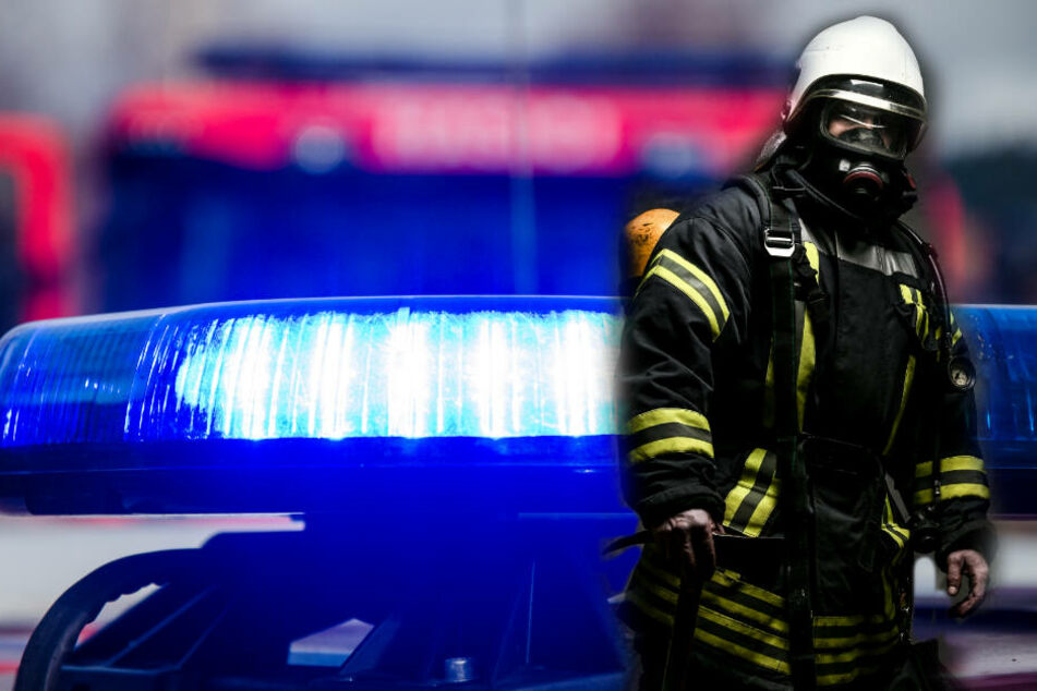 Ein Feuerwehrmann im Einsatz (Symbolbild).