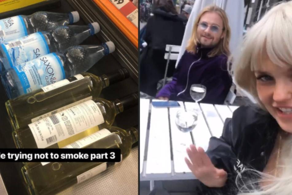 """Links eine Ration """"Bonnie-Rauchentwöhnung"""", rechts eine Bonnie kurz vor dem Ende ihres Nichtraucher-Daseins."""