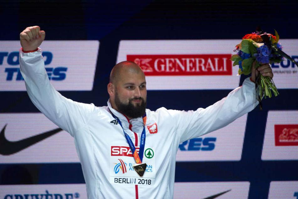 Michal Haratyk wurde am Mittwochabend Kugelstoß-Europameister.