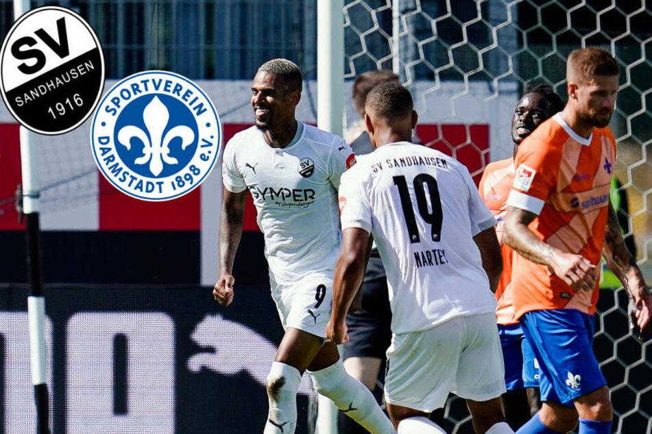 SV Darmstadt 98 von Sandhausens Daniel Keita-Ruel abgeschossen