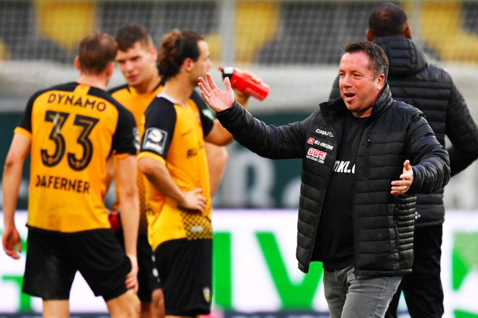 Am Sonntag will er wieder freudig strahlen und den nächsten Dreier bejubeln: Dynamo-Coach Markus Kauczinski.