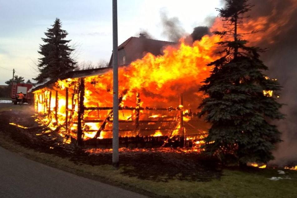 Vier Autos und Boot verbrennen im Carport