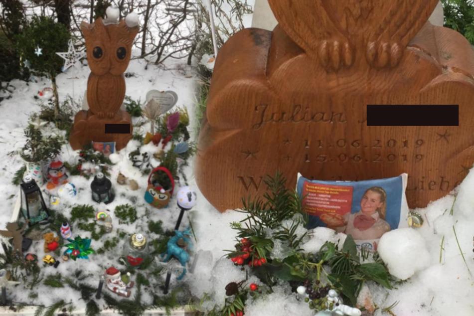 """Kurz nach dem ersten Angriff auf Julians Grab erfolgte ein zweiter. Unter anderem wurde eine Bäcker-Tüte hier """"entsorgt""""."""