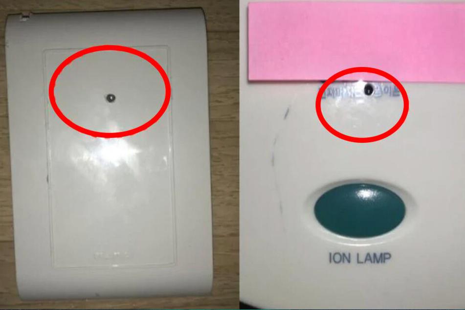 Die Kameras waren hinter verschiedenen Geräten versteckt.