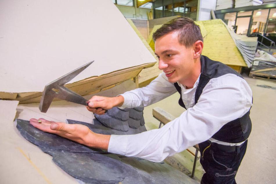 Paul Heil (20) ist Deutschlands bester Dachdeckergeselle.
