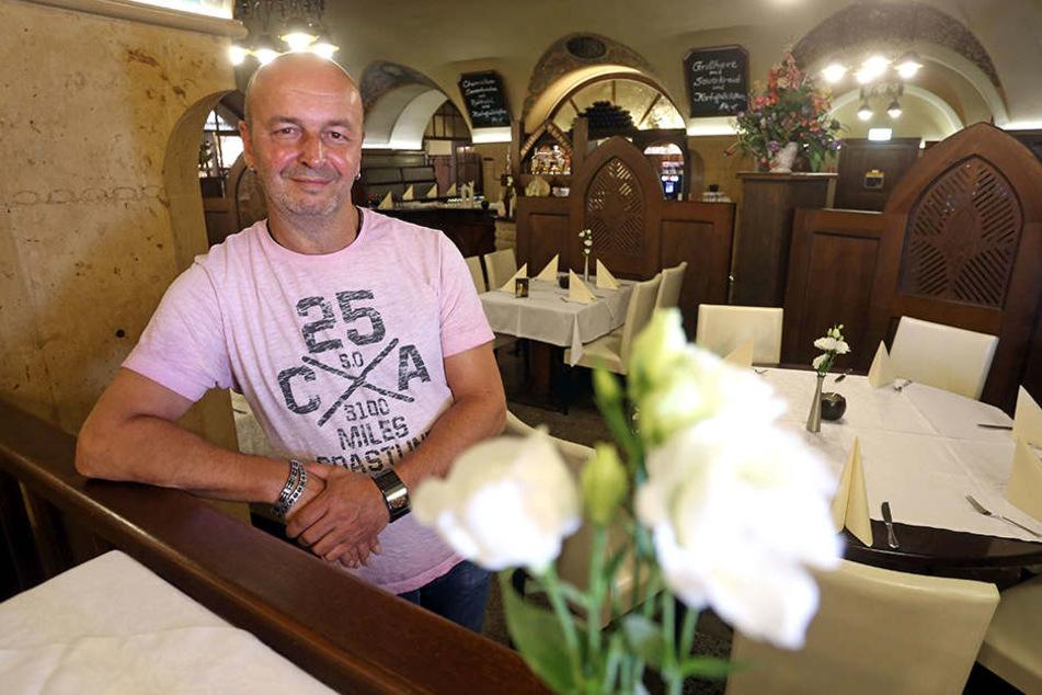 Dirk Gust (50) muss den Ratskeller im Mai schließen.