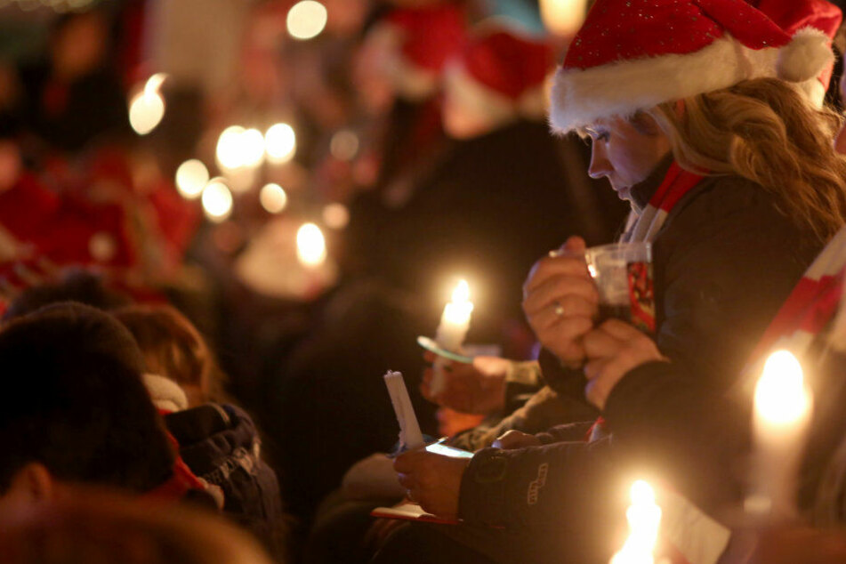 In Jena ist weihnachtliches Singen angesagt.