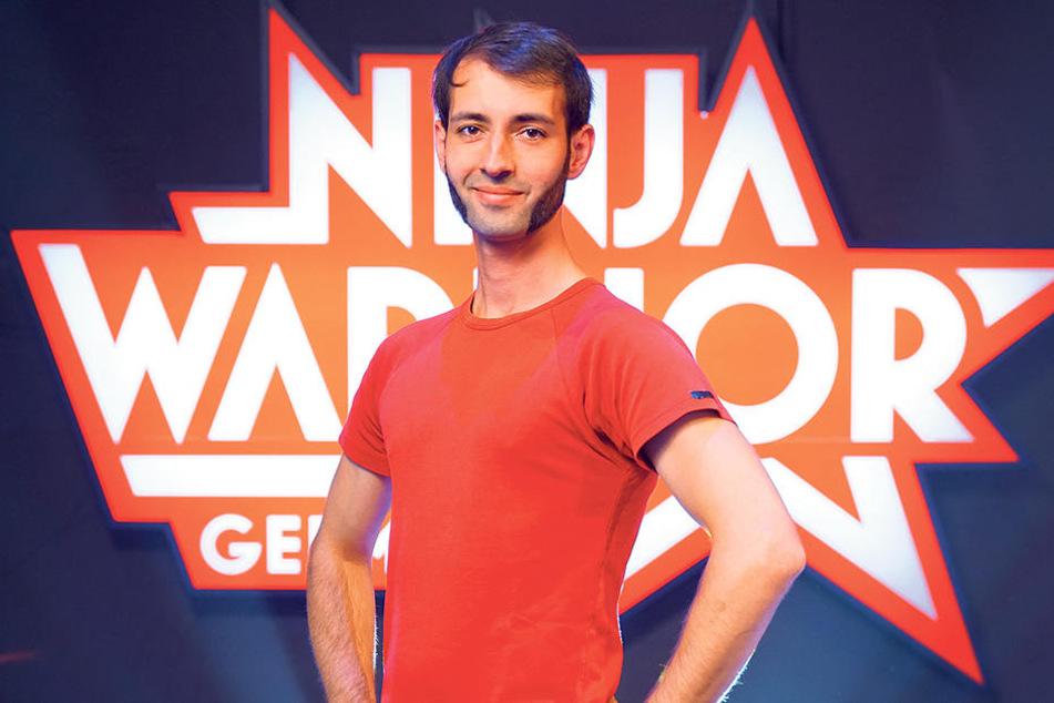"""Wollte erster deutscher """"Ninja  Warrior"""" werden: Selbstverteidigungs-Trainer Robby Nachtigall (32) aus  Leipzig."""