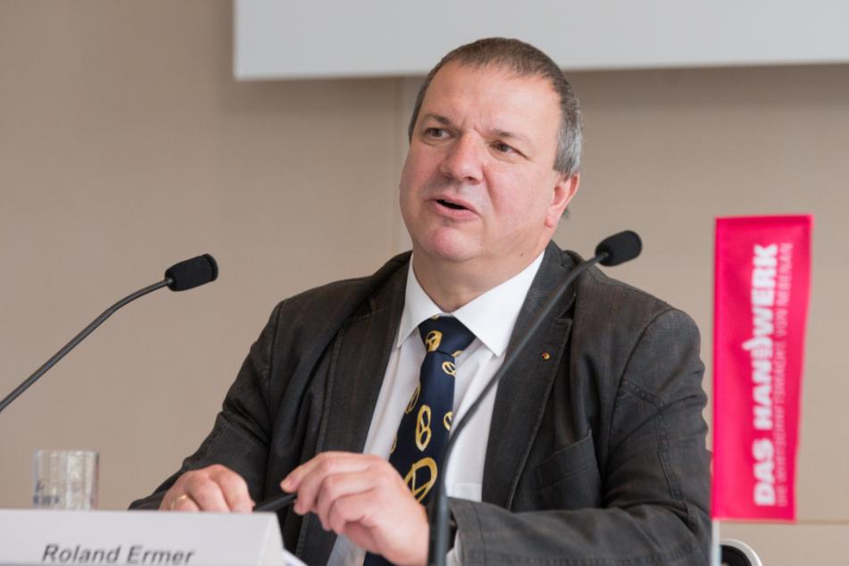 Roland Ermer, Präsident des Sächsischen Handwerkstages.