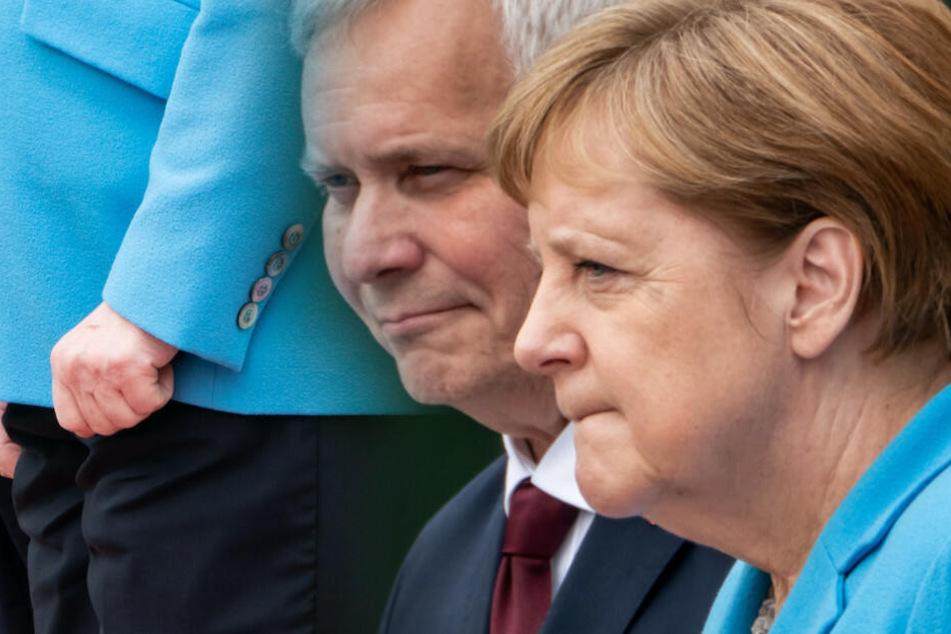 Diesen Satz soll Angela Merkel bei ihrem dritten Zitter-Anfall gemurmelt haben