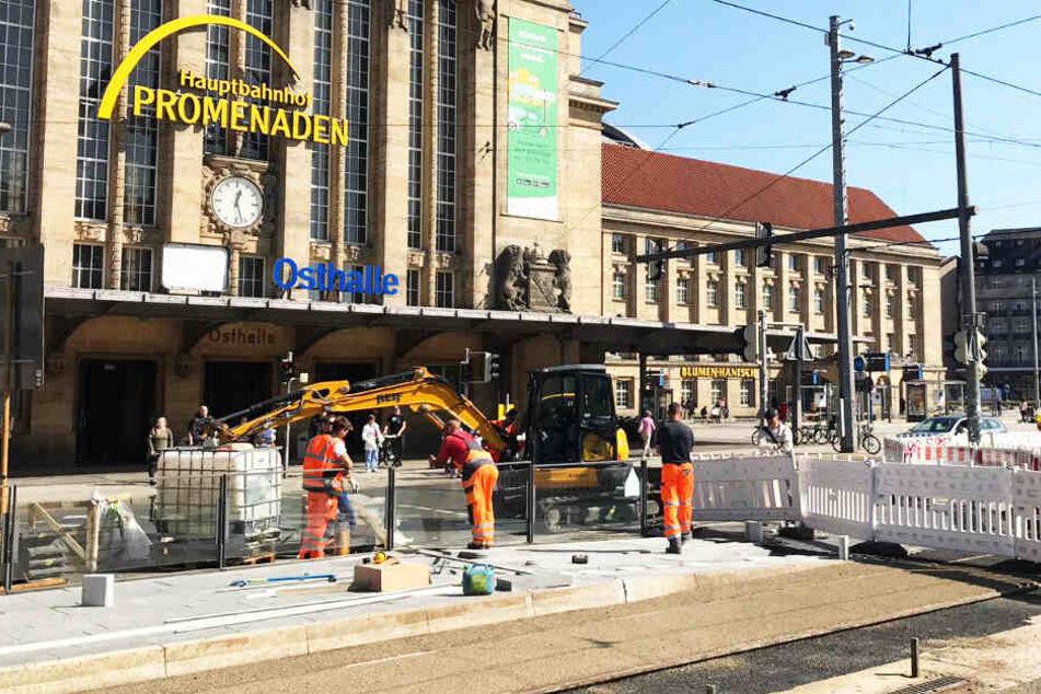 Pünktlich zum Lichtfest: Baustelle am Hauptbahnhof soll am Mittwoch verschwinden