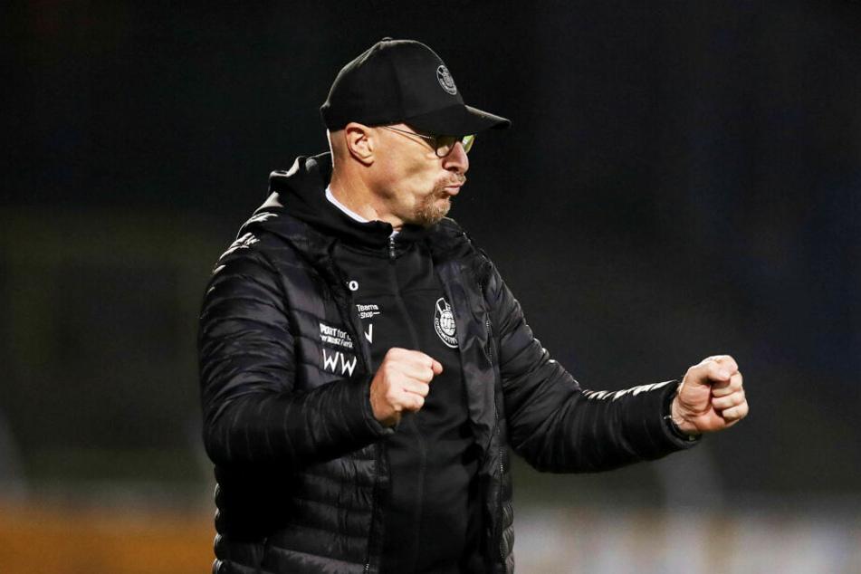 Wolfgang Wolf feierte mit dem FCL den Einzug ins Sachsenpokal-Halbfinale. (Archivbild)