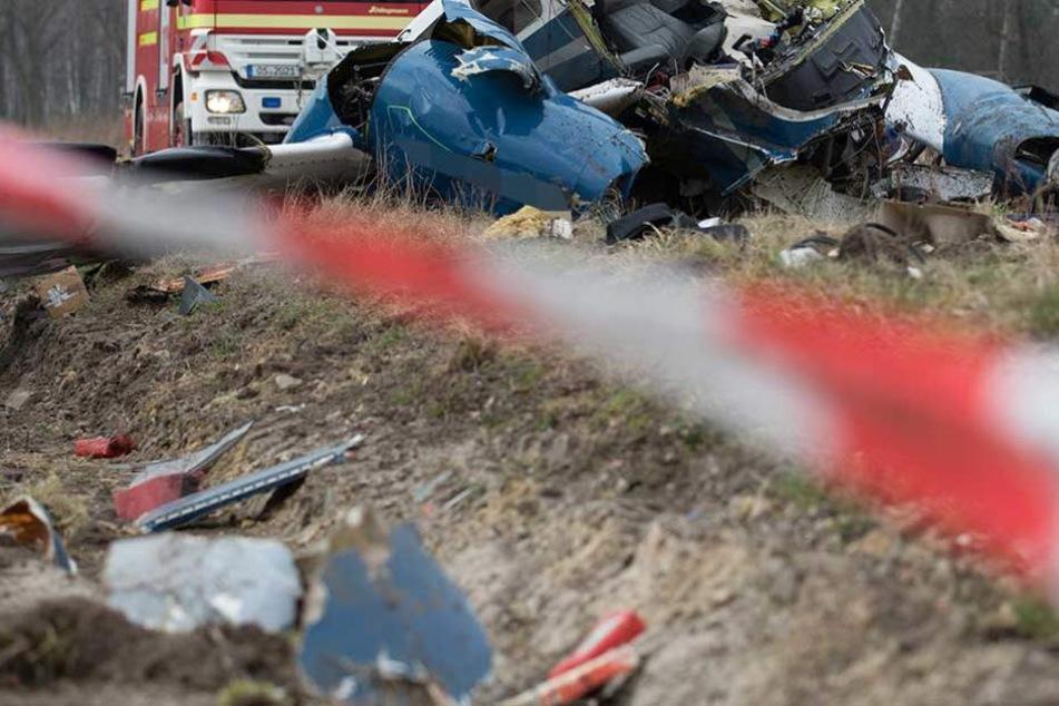 In Teltow-Fläming ist ein Kleinflugzeug abgestürzt (Symbolbild).