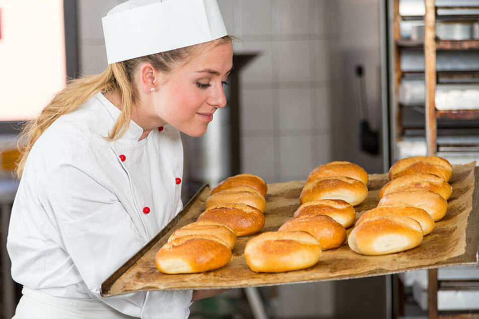 Mhhhh, frische Bäckerbrötchen sind einfach lecker.