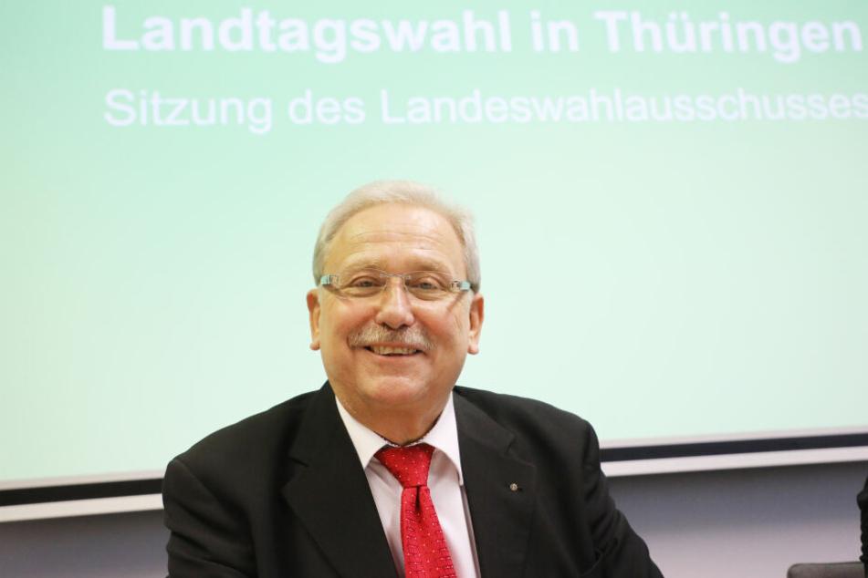 Günter Krompholz, Landeswahlleiter, stellte das Ergebnis am Donnerstag vor.