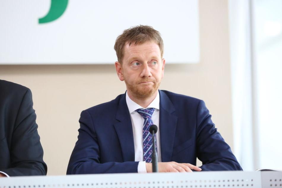 Michael Kretschmer am Donnerstag im Landtag: Er weiß um den Gegenwind aus den eigenen Reihen.