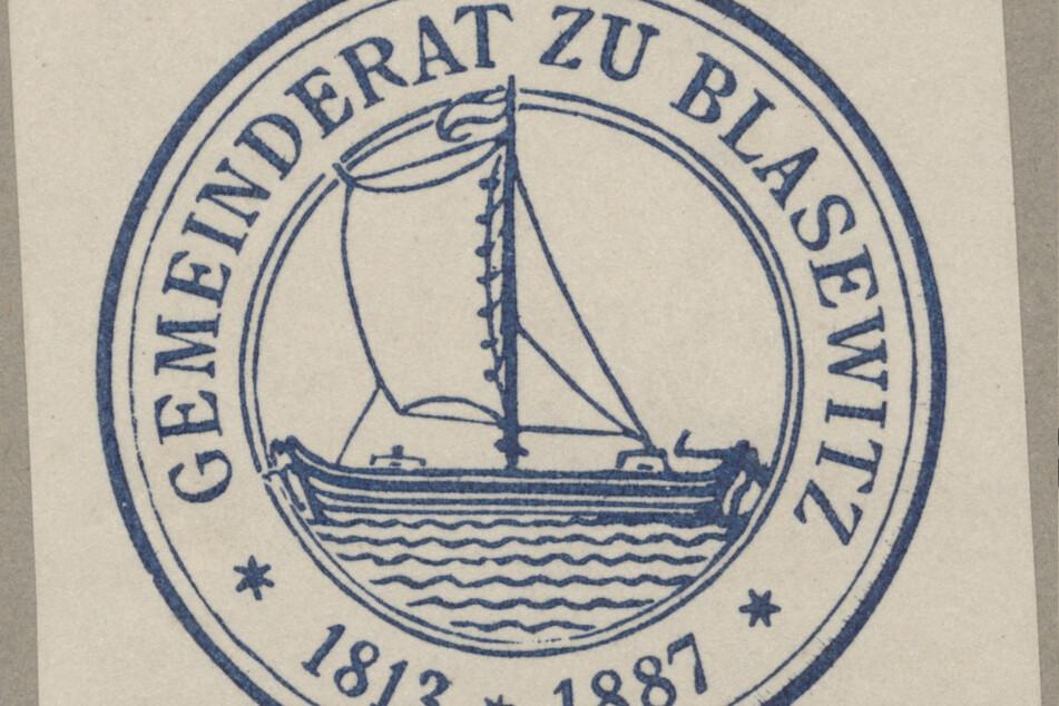 Das Blasewitzer Siegel erinnert an die Fähr- und Schifffahrtstradition.
